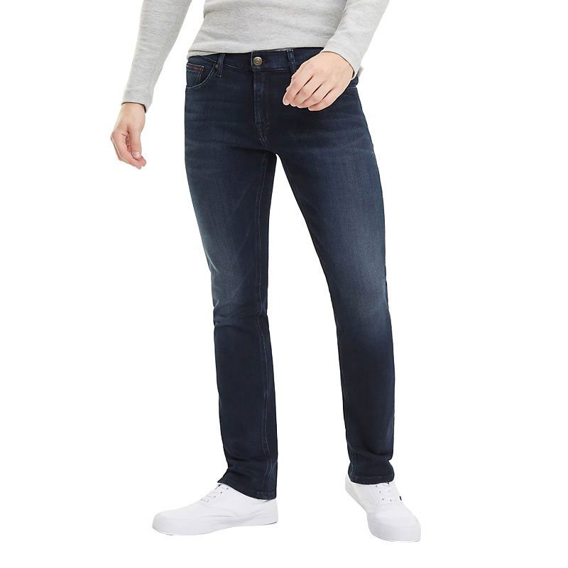 5de86a85 Tommy Jeans Lodge Dark Blue Scanton Faded Slim Fit Jeans - Click to view a  larger