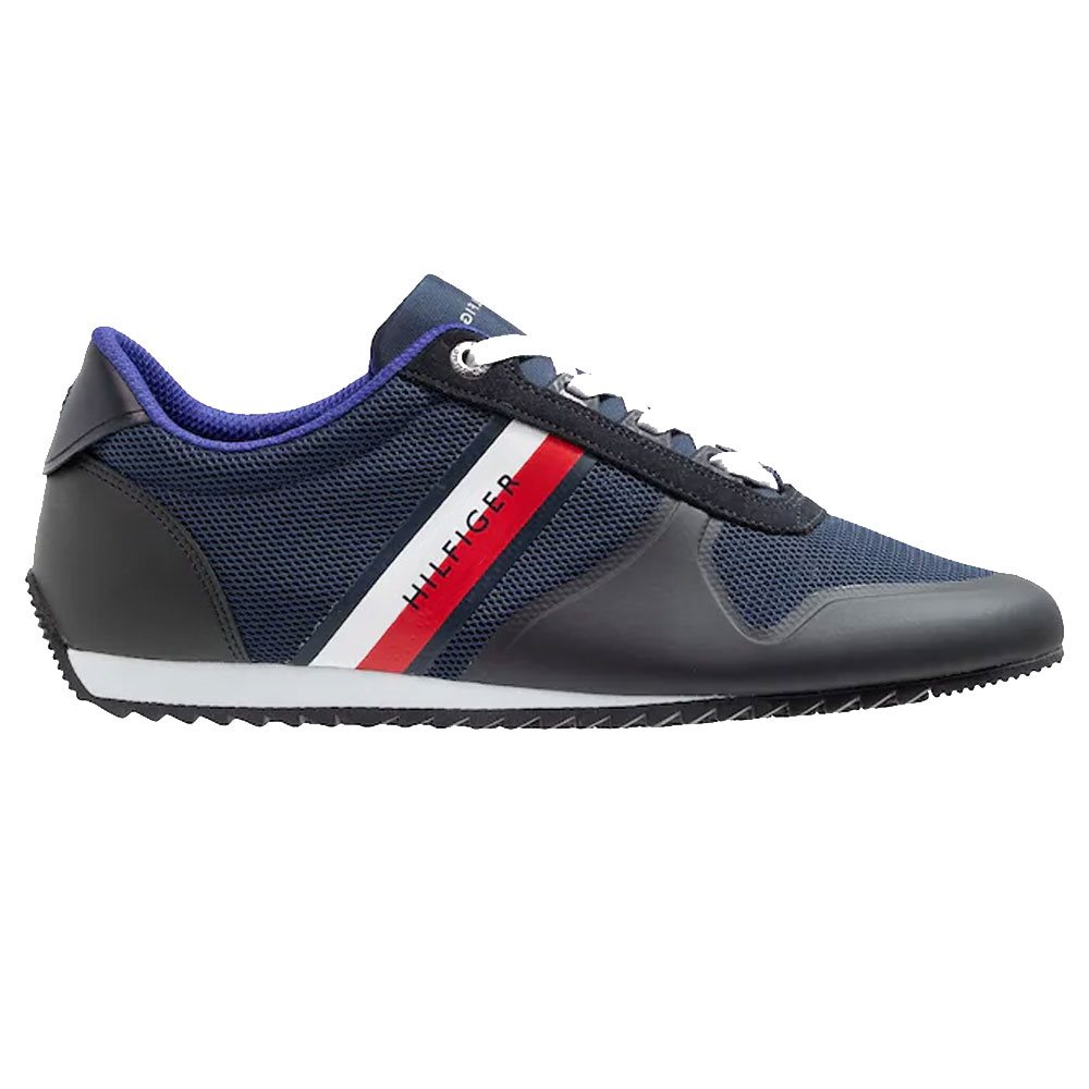 5cb637bc163337 Tommy Hilfiger Footwear Midnight Essential Mesh Panel Trainers - Click to  view a larger image