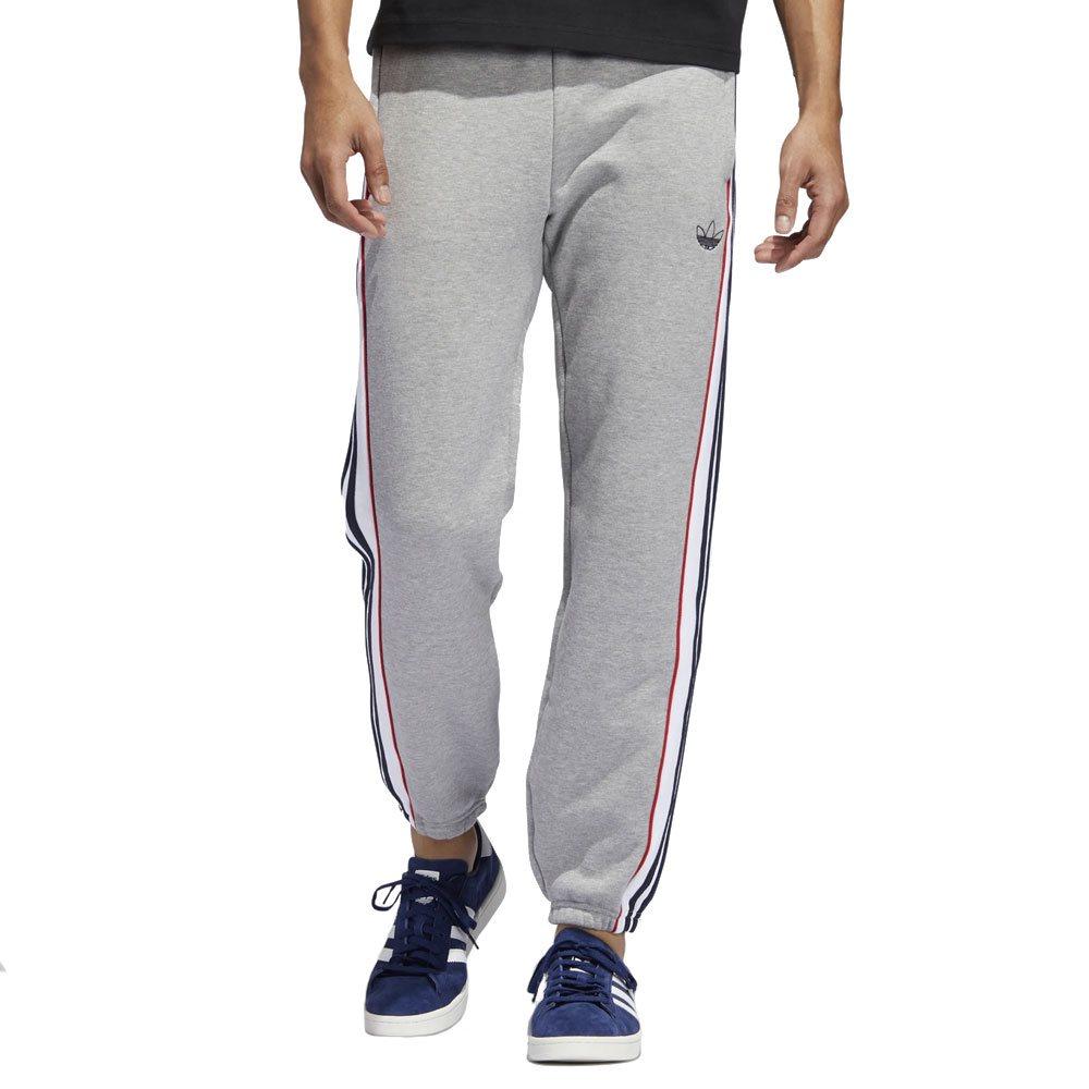 4504e8f8 Grey 3-Stripes Panal Joggers - XS